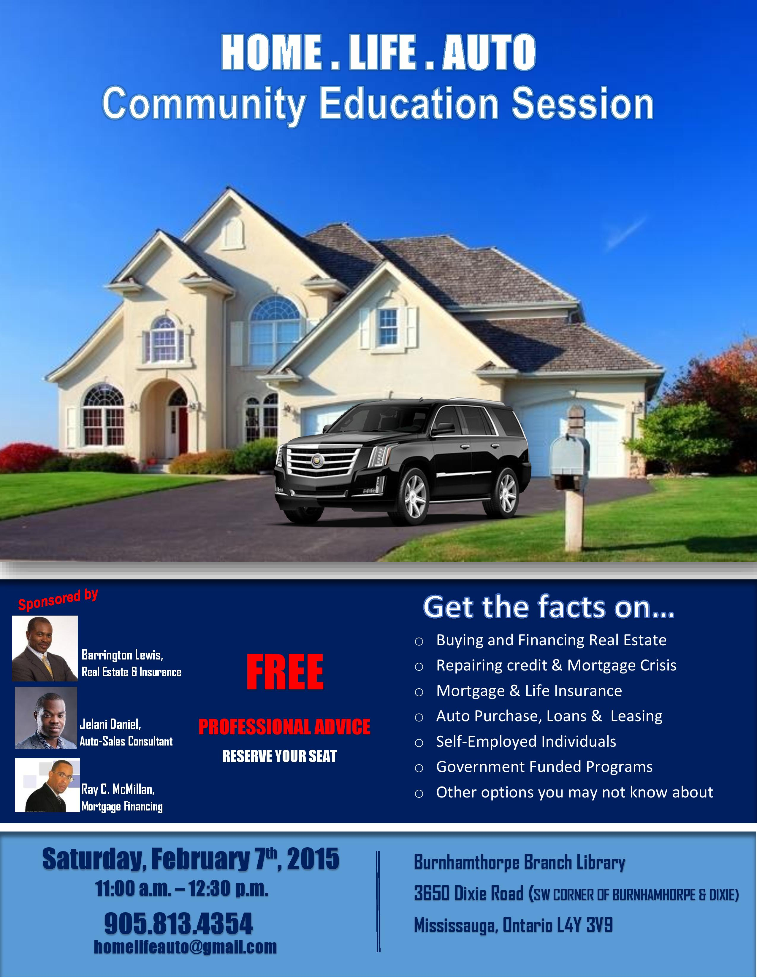 Facts about buying a home - Seating Is Limited R S V P By Email To Homelifeauto Gmail Com Or By Phone To 905 813 4354