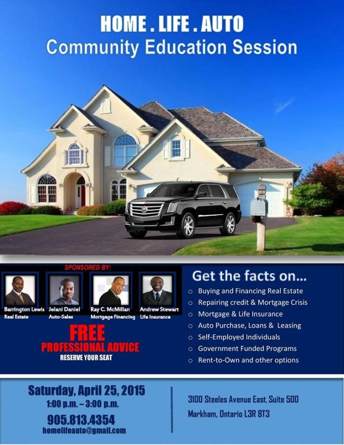 Home-Life-Auto: Community Education Session (the East-End Edition)